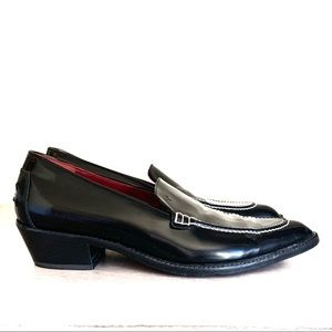 DONALD PLINER Black Patent Leather Italian Loafer